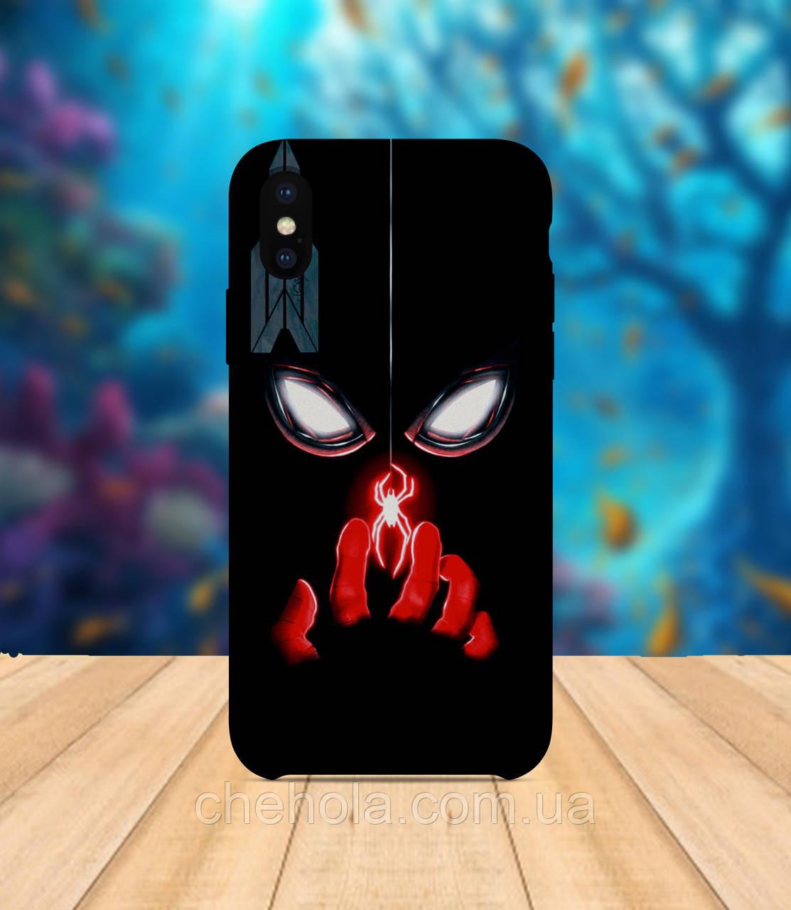 Чехол для apple iphone x XS max Человек паук черный чехол с принтом