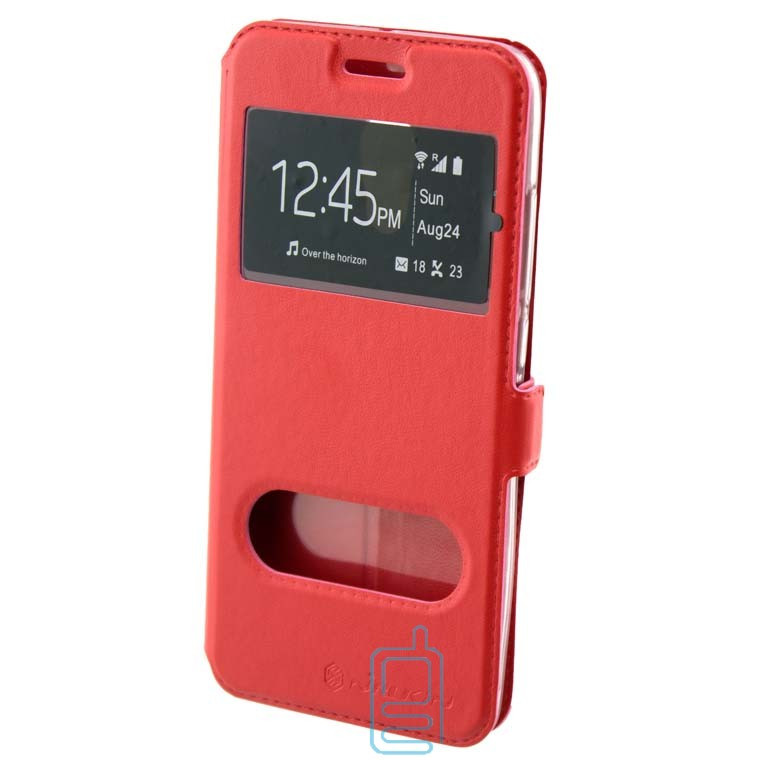 Чехол-книжка Nillkin 2 окна Samsung S7 G930 красный