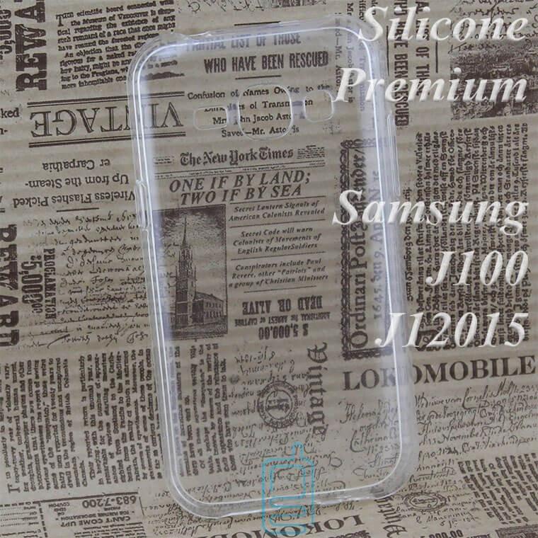 Чехол силиконовый Premium Samsung J1 2015 J100 прозрачный