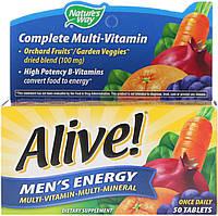 Nature's Way, Alive!, Поливитаминный комлпекс для мужчин · мультиминералы, 50 таблеток, фото 1