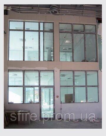 Протипожежні алюмінієві вікна зовнішні
