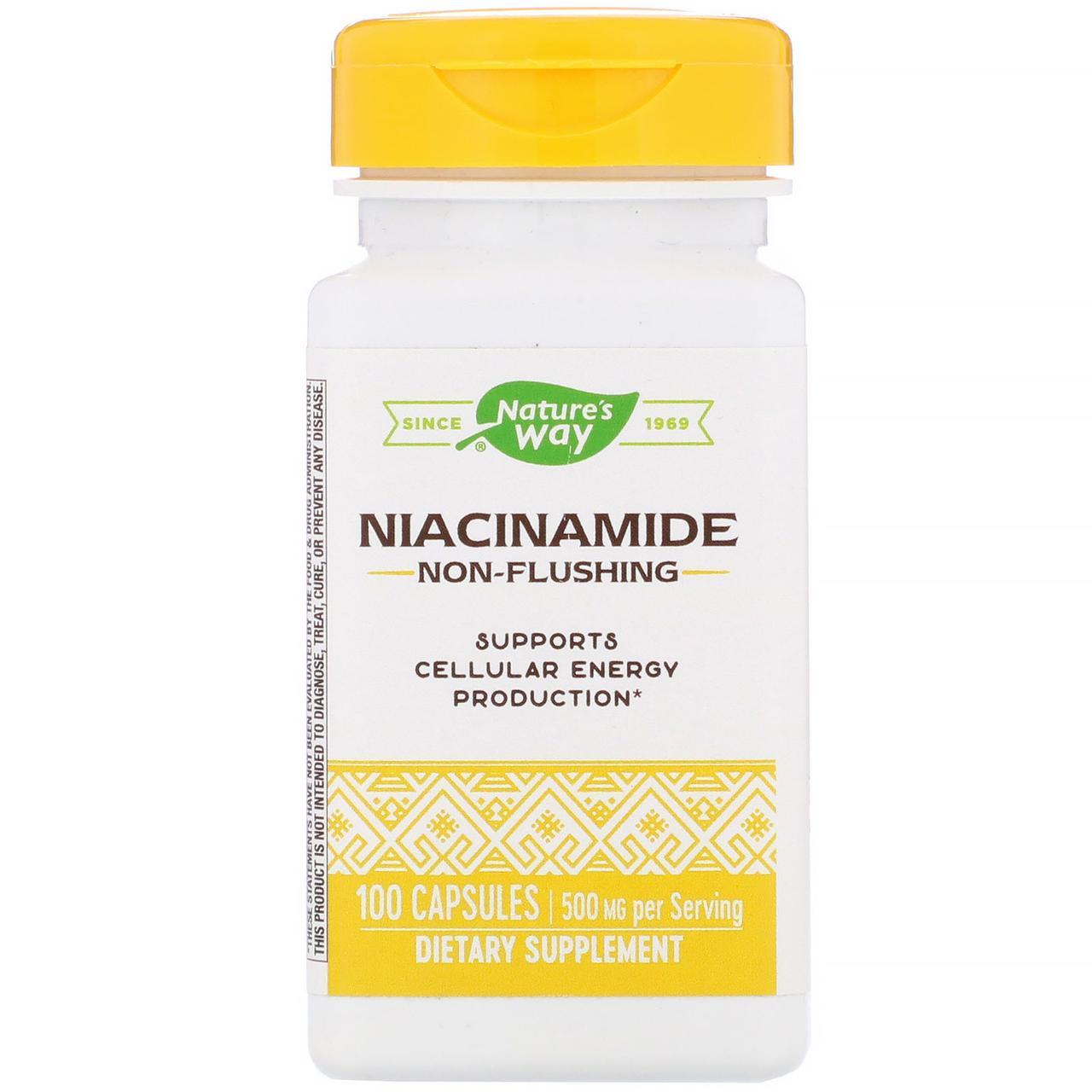 Никотинамид от Nature's Way, 500 мг, 100 капсул