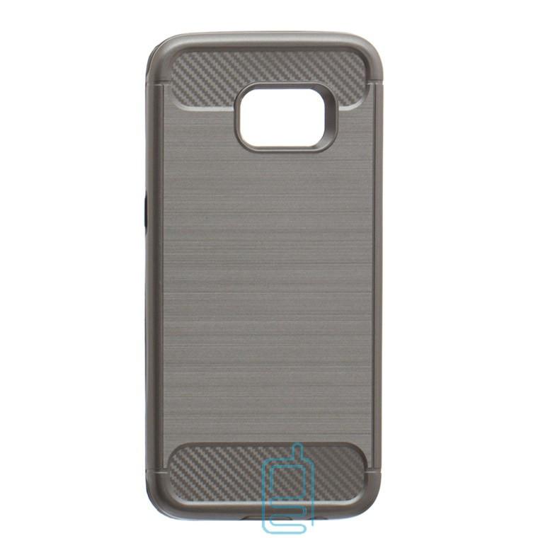Чехол-накладка Motomo X6 Samsung S7 Edge G935 серый