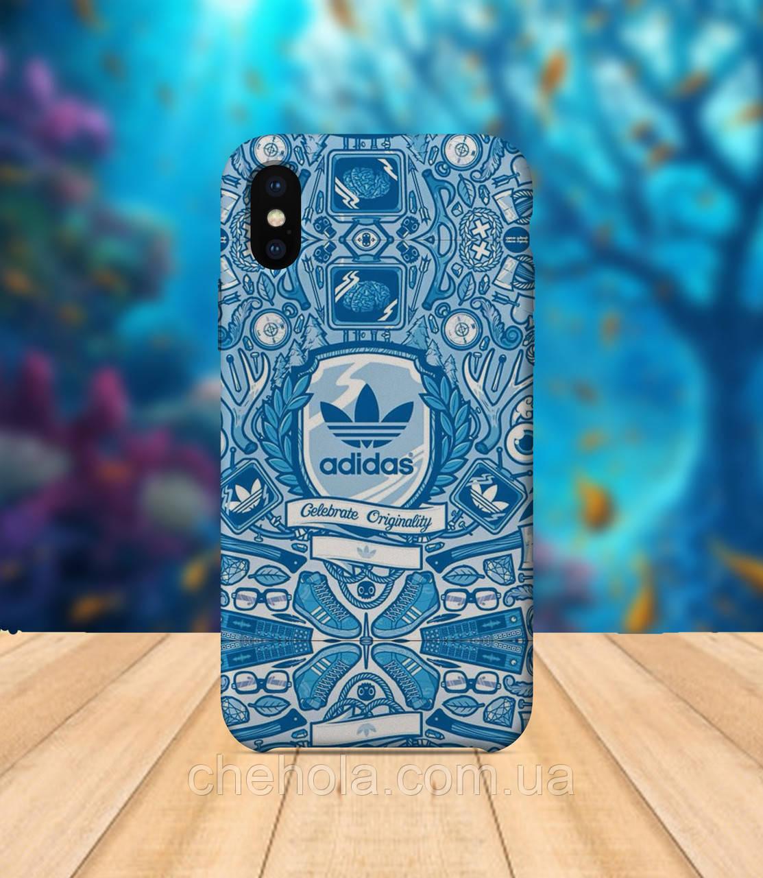 Чехол для apple iphone x XS max В стиле Adidas чехол с принтом