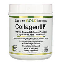 Коллаген (пептиды коллагена)+ гиалуроновая кислота и витамин С California Gold Nutrition, Collagen UP, 464 г, фото 1
