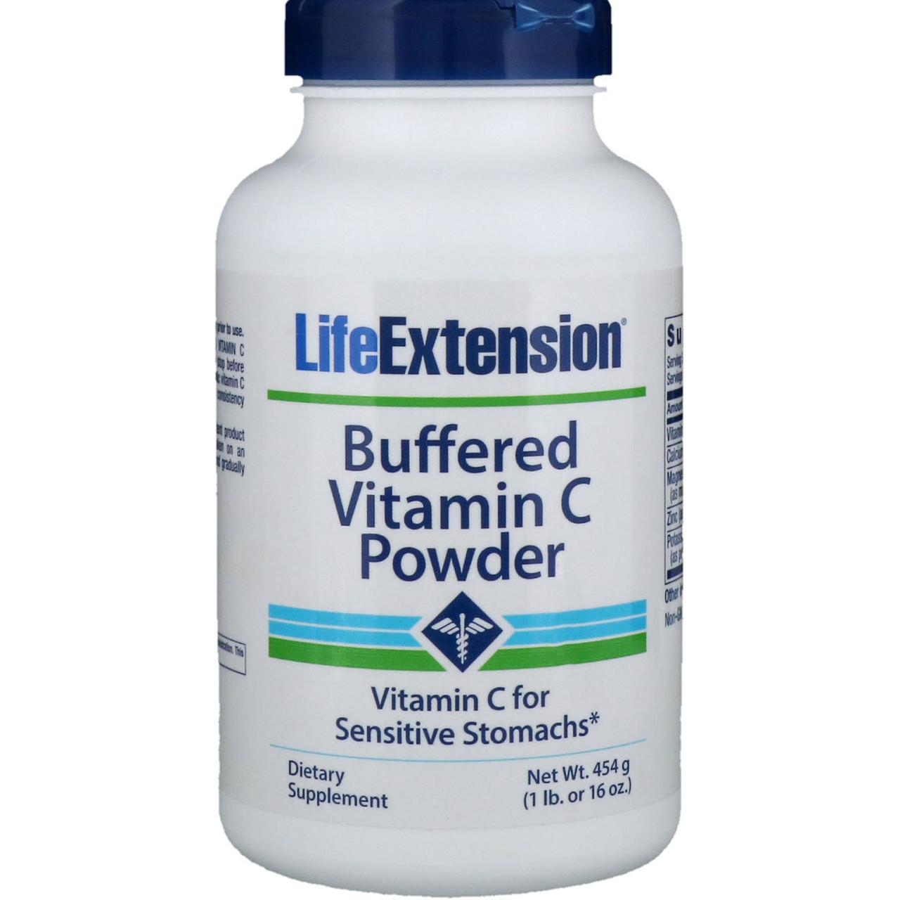 Буферизированный витамин C в порошке от Life Extension, 454 г