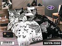 Набор постельного белья Сатин №с476 Евро размер 200х220 см., фото 1