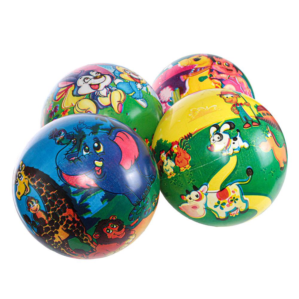 """М'яч дитячий  9"""" малюнки 4 види 75 г у сітці BT-PB-0169"""