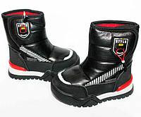 Детские Зимние Ботинки Дутики для мальчика Tom.M Черные