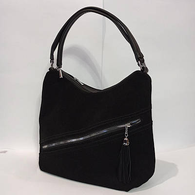 Удобная вместительная замшевая сумка. модель 1123