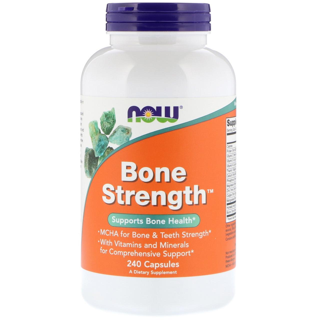 Комплекс для здоровья костей Now Foods, прочные кости, 240 капсул