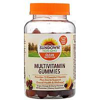 Мультивитаминные жевательные конфеты Sundown Naturals, со вкусом винограда, апельсина и вишни, 120 шт.