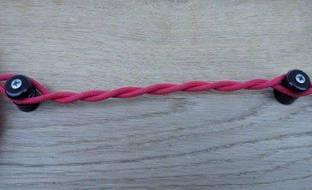 Провод для наружной электропроводки красный  Сечение провода 1,5 2-х жильный