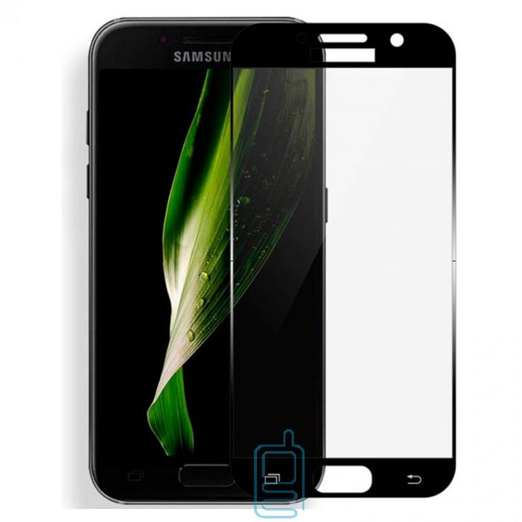 Защитное стекло Full Glue Samsung A3 2017 A320 black тех.пакет