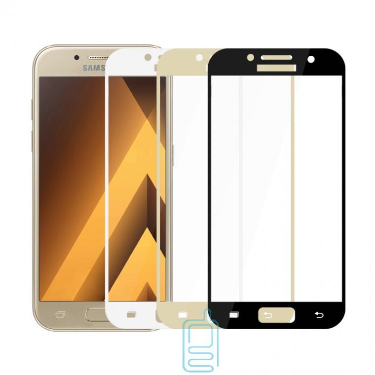 Защитное стекло Full Glue Samsung A7 2017 A720 gold тех.пакет