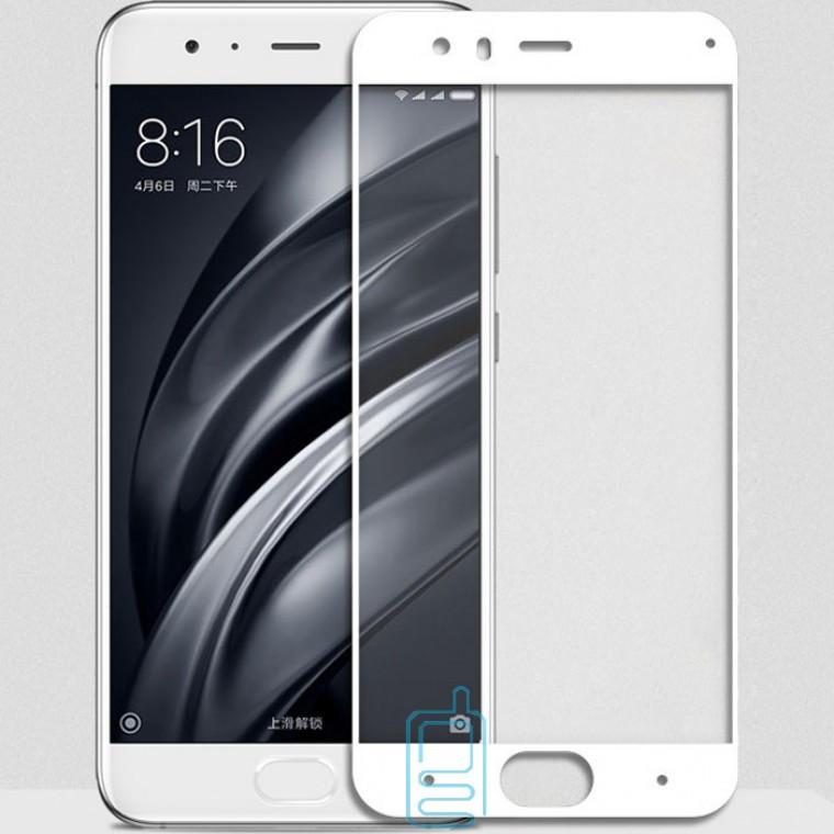 Защитное стекло Full Glue Xiaomi Mi6 white тех.пакет
