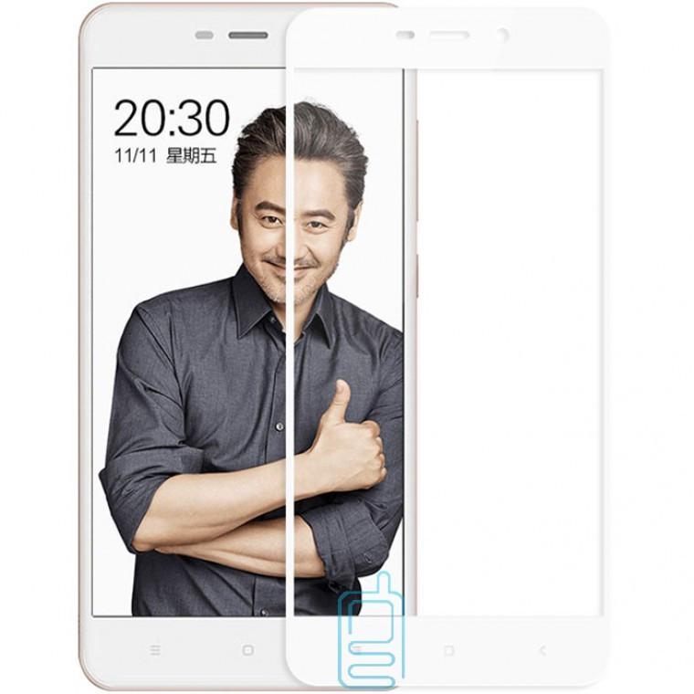 Защитное стекло Full Glue Xiaomi Redmi 4A white тех.пакет