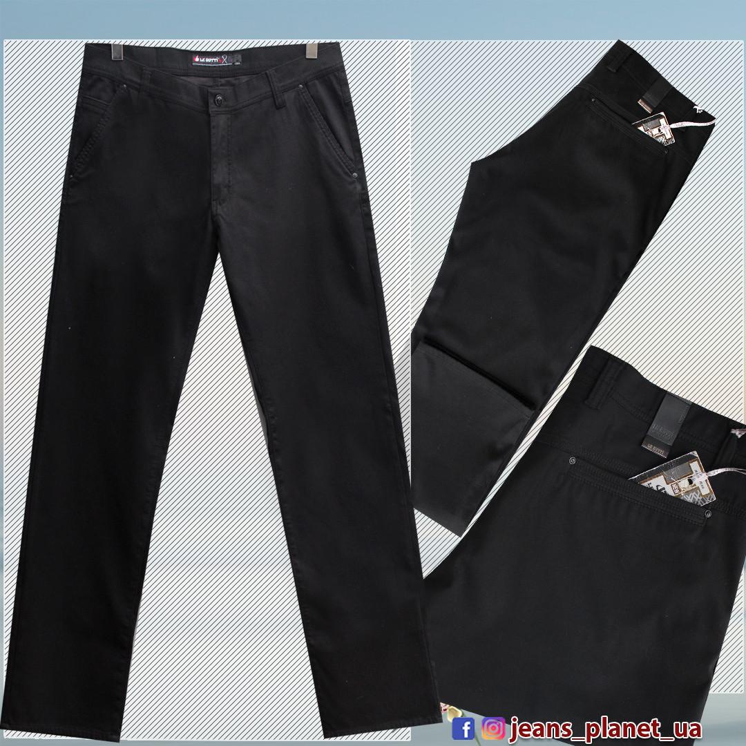 Брюки джинсы мужские прямые LeGutti чёрного цвета 40 размер