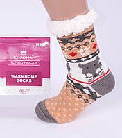 Тапочки-носки домашние полушерстяные, фото 1