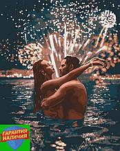 Картина по номерам Звездные чувства 40*50см Идейка KHO4670 Пара в воде