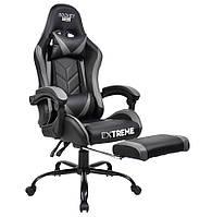 Ігрове крісло Extreme ROCKET Gray Геймерское кресло Игровое кресло Геймерське крісло крісло для ігроманів