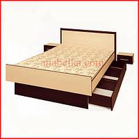 Кровать с выдвижными ящиками  для спальни Система Комфорт 90