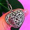 Серебряный кулон Ажурное Сердце - Подвеска большое Сердце серебро 925, фото 6