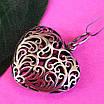 Серебряный кулон Ажурное Сердце - Подвеска большое Сердце серебро 925, фото 2