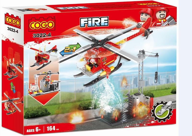Конструктор Cogo Пожежна частина 164 деталей в коробці 3022-4
