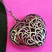 Серебряный кулон Ажурное Сердце - Подвеска большое Сердце серебро 925, фото 4