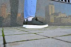 Кросівки чоловічі Олександр Маквин Leather Green шкіряні підошва піна Репліка, фото 2
