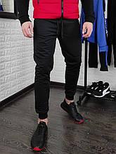 Чёрные спортивные штаны мужские  на манжетах Сл 1392