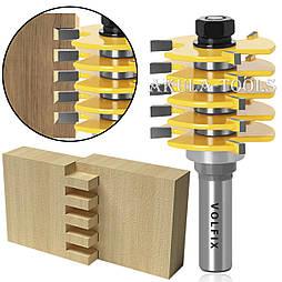 Складальна фреза для зрощування деревини (мікрошип) (марошип) по довжині і ширині по дереву VOLFIX FZ-120-520 d12