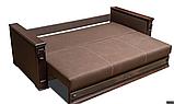 Диван-еврокнижка НАДЕЖДА Спальный диван для повседневного сна Коричневый СКМ, фото 3
