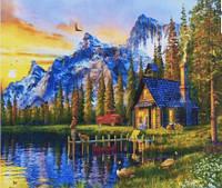 Картина раскраска живопись рисование по номерам на холсте Пикник 40*50 см