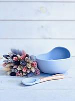 Набор силиконовой посуды для кормления детей 2 предмета без коробки