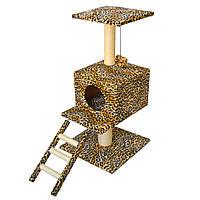 Когтеточка,дряпка Лорі Цезар будинок-драпак для кота 82*44*44см (сезаль)
