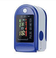 Пульсометр оксиметр на палец Pulse Oximeter Blue