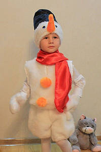 Костюм Снеговика из меха с шортами