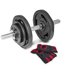 Гантель Наборная Hop-Sport 1 шт на 20 кг Пречатки в подарок, фото 2