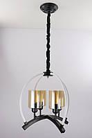 Люстра потолочная подвесная в стиле Loft (лофт) 048/4 Черный 55х47х47 см.