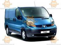 Ветровик Renault Trafiс II фургон 2001-2014 75 мм эконом (скотч) AV-Tuning (комплект из 2шт)