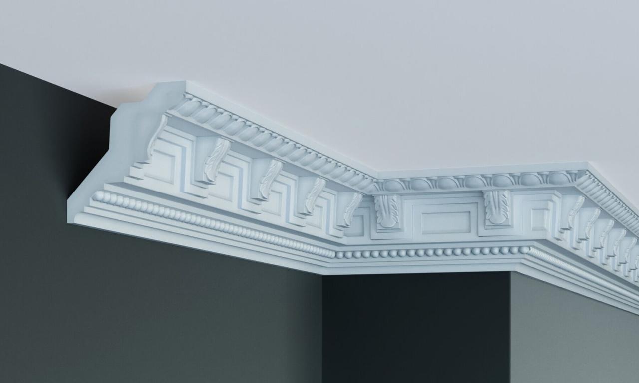 Карниз полиуретановый с орнаментом Gaudi Decor C 1097