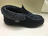 Мужские тёплые туфли-бурки новая модель обувная подошва