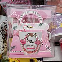 Керамическая чашка в подарочной упаковке Фламинго Happy Birthday