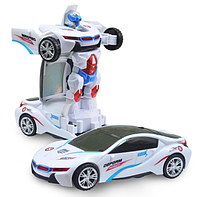 Музыкальная машинка-трансформер Deform Robot YJ388-20, детская машинка, детский трансформер