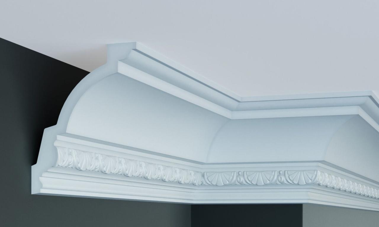 Карниз полиуретановый с орнаментом Gaudi Decor C 127