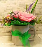 """Подарочное мыло """"Букет розовых роз"""", фото 2"""