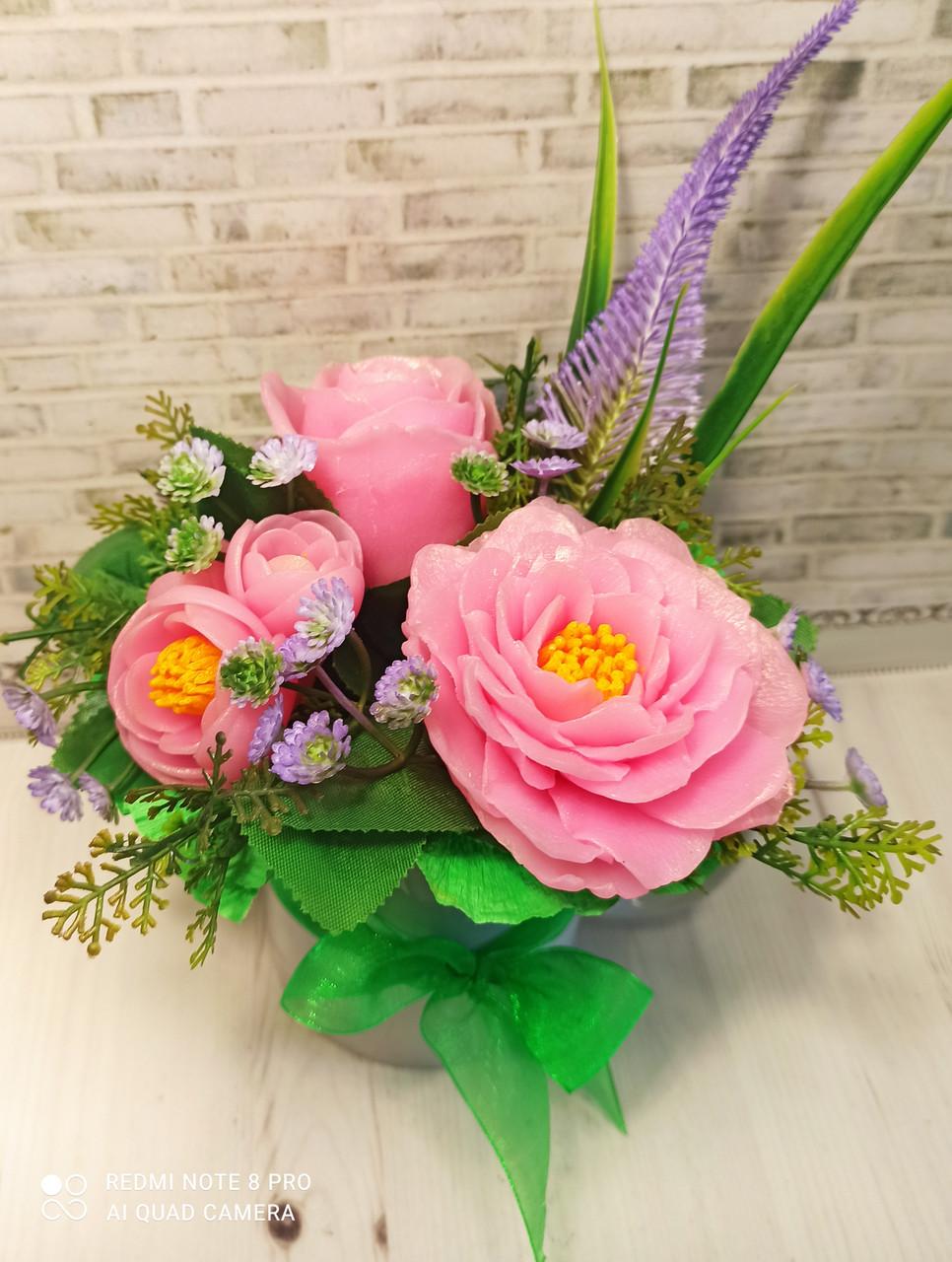 """Подарочное мыло """"Букет розовых роз"""""""