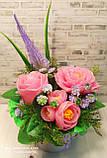 """Подарочное мыло """"Букет розовых роз"""", фото 4"""